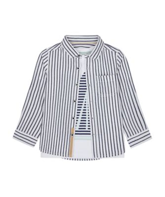 Mothercare Yacht Club Stripe Shirt And Long Sleeve T-Shirt Set