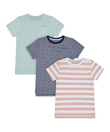 Mothercare Pocket T-Shirts - 3 Pack