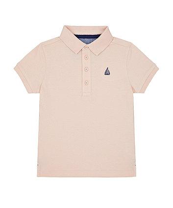 Mothercare Pink Sailboat Polo Shirt