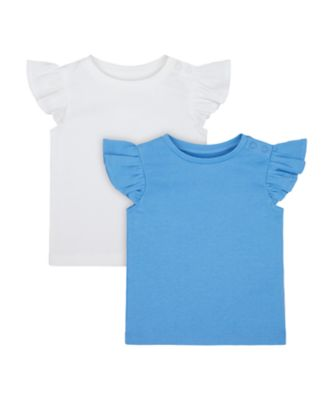 Mothercare Swan Lake Blue And White Vests - 2 Pack