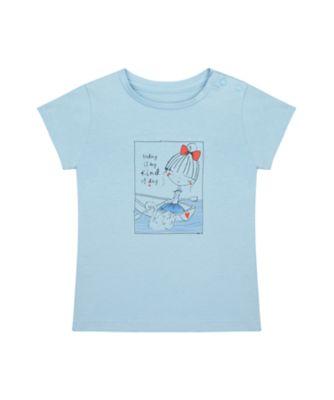 Mothercare Swan Lake Blue Uber Girl Short Sleeve T-Shirt