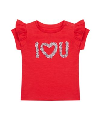 Mothercare Swan Lake Red Epp I Love You Short Sleeve T-Shirt