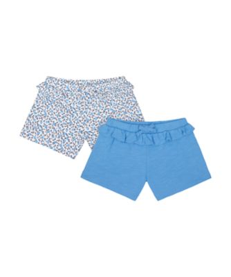 Mothercare Swan Lake Floral And Blue Shorts - 2 Pack