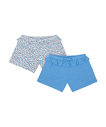 Mothercare Floral And Blue Jersey Shorts - 2 Pack