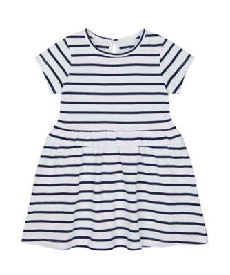 Mothercare Swan Lake Epp Stripe Jersey Dress