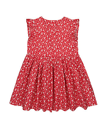 Mothercare Red Floral Woven Dress