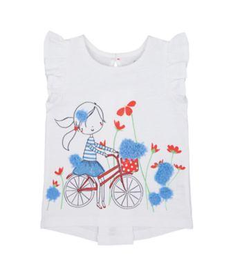 Mothercare Swan Lake White Girl Short Sleeve Tshirt