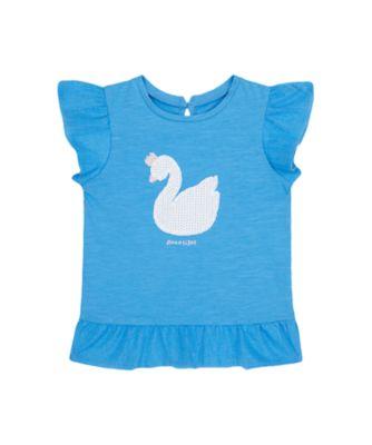 Mothercare Swan Lake Blue Swan Short Sleeve T-Shirt