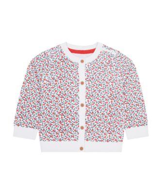 Mothercare Swan Lake Allover Print Knit Cardigan