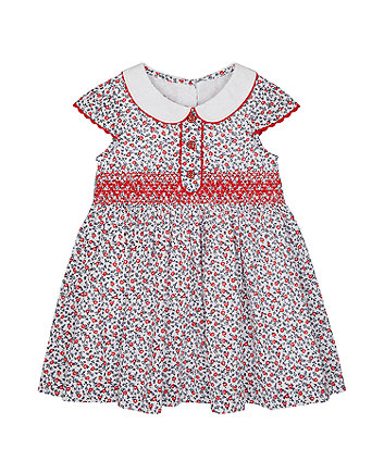 Mothercare Floral Dress With Smocking