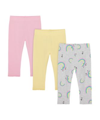 Mothercare Just Pretend Allover Print, Pink And Yellow Leggings - 3 Pack