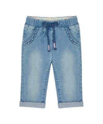 Mothercare Just Pretend Light Wash Denim Embroideried Trouser