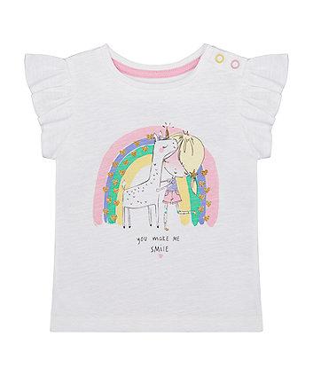 Mothercare Rainbow Glitter T-Shirt
