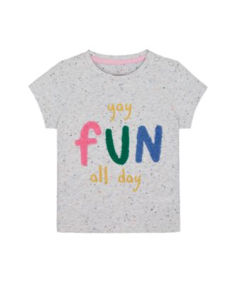 Mothercare Just Pretend Gry Fun Day Short Sleeve Tee