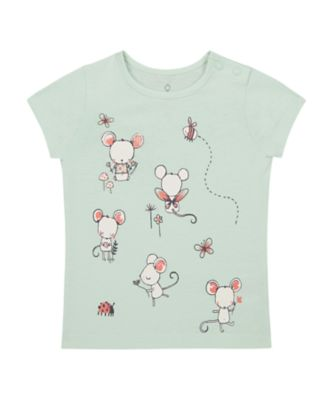 Mothercare Spring Meadow Mouse Uber Short Sleeve T-Shirt
