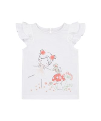 Mothercare Spring Meadow White Girl Short Sleeve T-Shirt