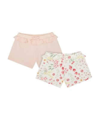 Mothercare Spring Meadow Allover Print And Pink Shorts - 3 Pack
