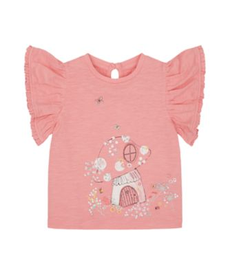 Mothercare Spring Meadow Pink House Short Sleeve T-Shirt