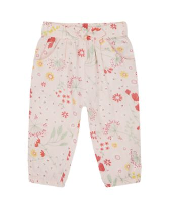 Mothercare Spring Meadow Pink Floral Woven Trousers