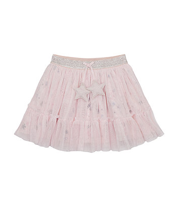 Mothercare Pink Star Mesh Skirt