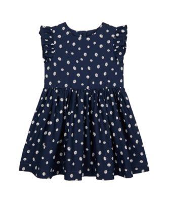 Mothercare Save Our Seas Navy Allover Print Epp Woven Dress