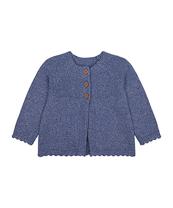 Mothercare Blue Knitted Cardigan