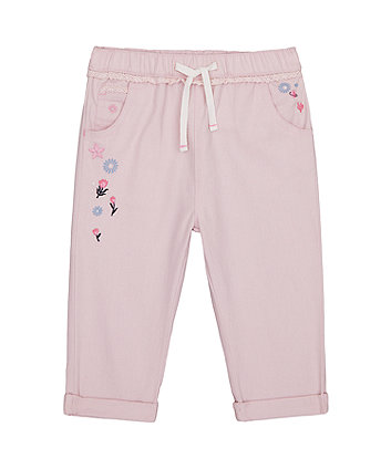 Mothercare Pink Woven Trousers
