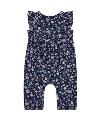 Mothercare Save Our Seas Navy Allover Print Jersey Jumpsuit