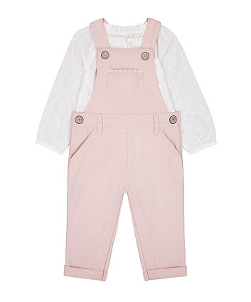 Pink Dungarees And Blouse Set [SS21]