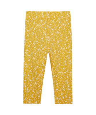 Mothercare Wardrobe Essentials Mustard Floral Legging