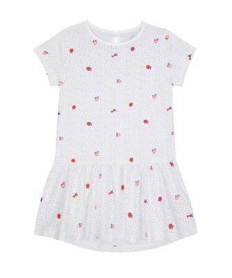 Mothercare Apple Of My Eye Apple Allover Print Epp Jersey Short Sleeve Dress