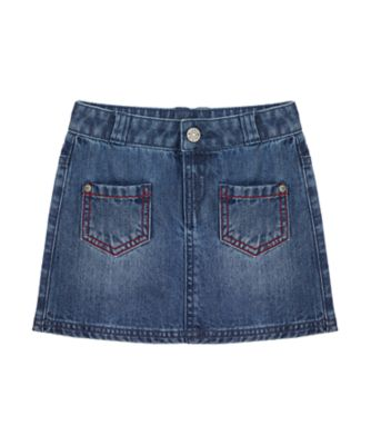 Mothercare Apple Of My Eye Denim Pocket Light Wash Skirt