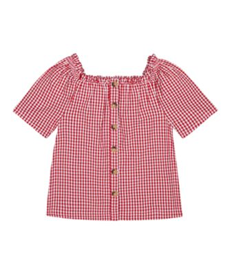 Mothercare Apple Of My Eye Red Gingham Button Blouse