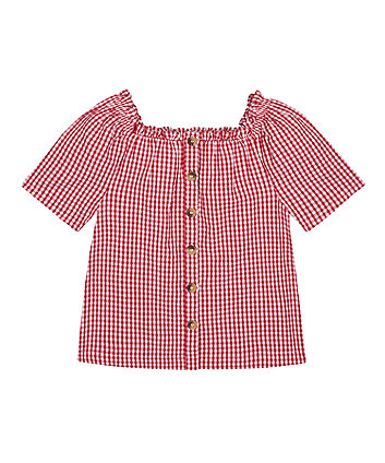 Mothercare Red Gingham Blouse