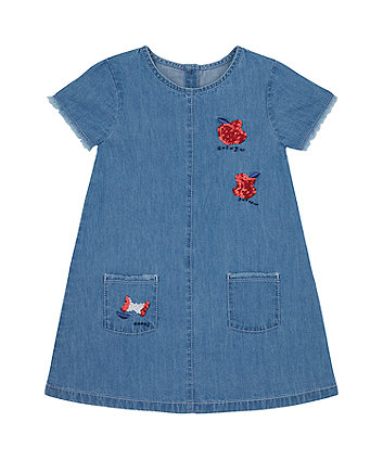 Mothercare Apple Denim Dress