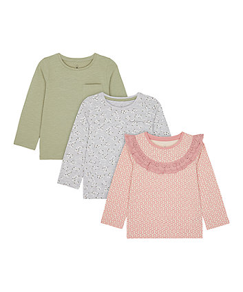 Frill, Floral And Khaki T-Shirts - 3 Pack [SS21]