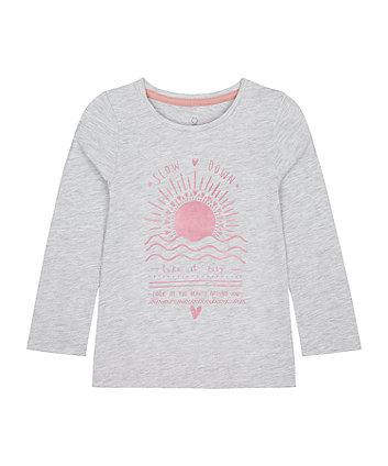 Mothercare Rose-Gold Sun T-Shirt
