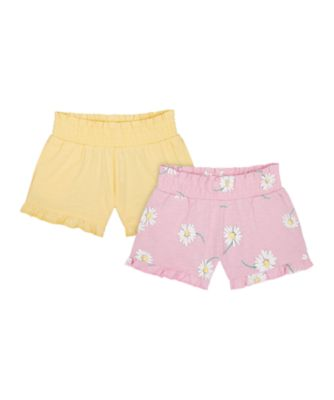 Mothercare Flower Power Lilac And Yellow Shorts - 2 Pack