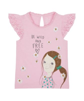 Mothercare Flower Power Wild And Free Short Sleeve T-Shirt