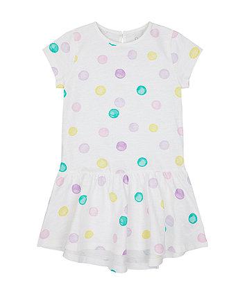 Mothercare Spot Jersey Dress