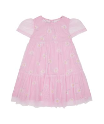 Mothercare Flower Power Pink Daisy Tulle Dress