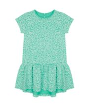 Mothercare Green Floral Jersey Dress