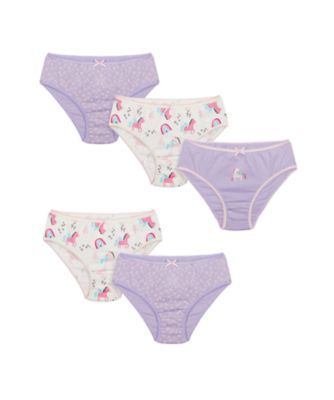 Mothercare Girls Party Horse Briefs - 5 Pack