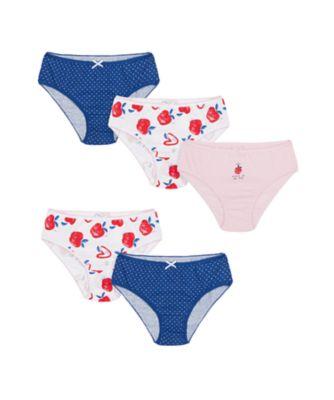 Mothercare Girls Apple Of My Eye Briefs - 5 Pack