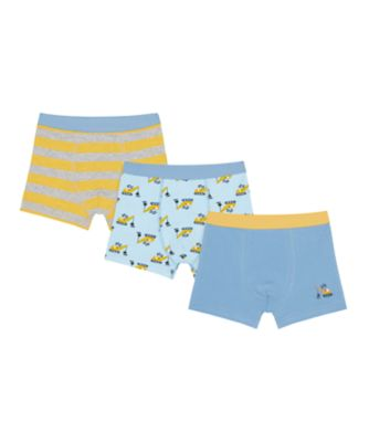 Mothercare Boys Plant Machine Trunks - 3 Pack