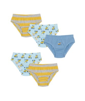 Mothercare Boys Plant Machine Briefs - 5 Pack