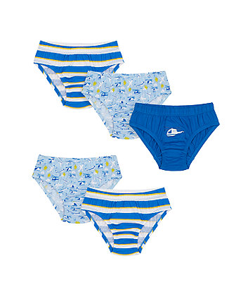 Mothercare Fly In The Sky Briefs - 5 Pack