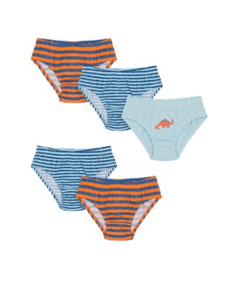 Mothercare Boys Dino Briefs - 5 Pack