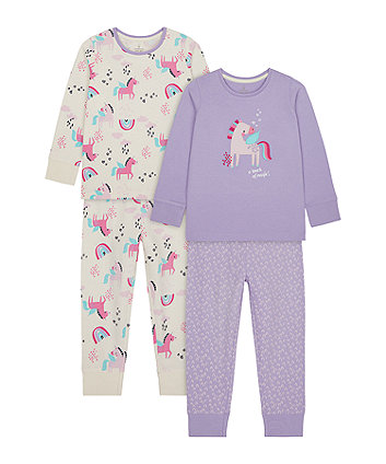 Rainbow And Party Horse Pyjamas - 2 Pack [SS21]