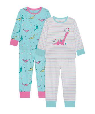 Mothercare Girls Dino Pyjamas - 2 Pack